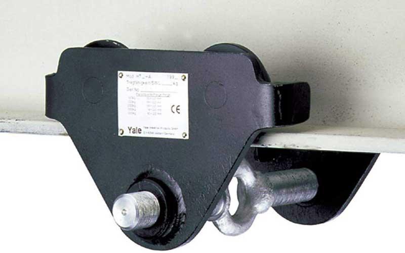 Características de los carros porta poleas para polipasto.